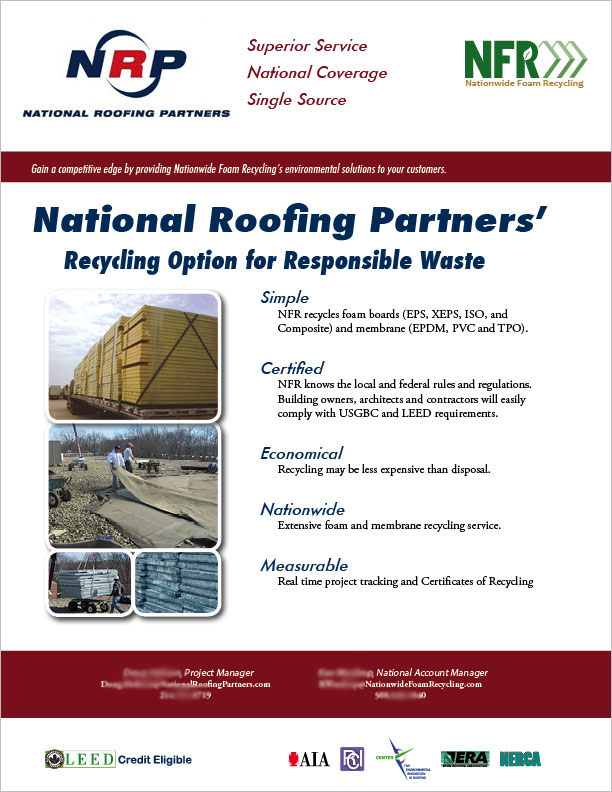 One Of Many Single Page Sell Sheets Created For NFR. This Is A Sheet That  The Sales Team Needed. We Decided To Develop Business Partnerships With  Suppliers.